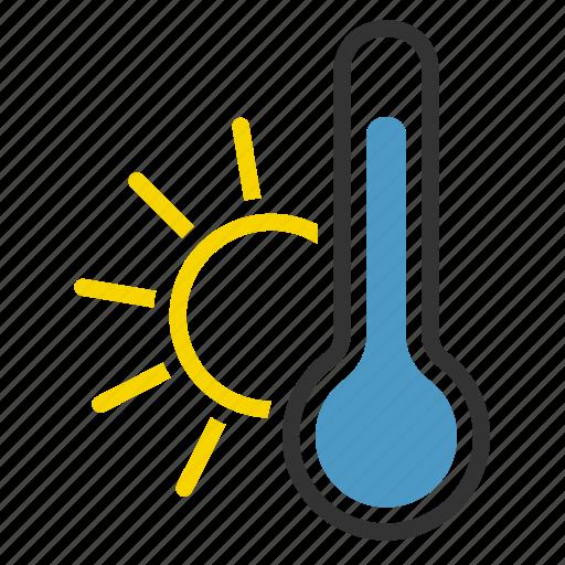 hot, summer, sun, temperature icon