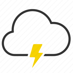 cloud, flash, lightning, thunder icon