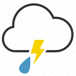 cloud, lightning, rain, storm, thunder icon
