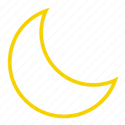 crescent, half moon, moon, night icon