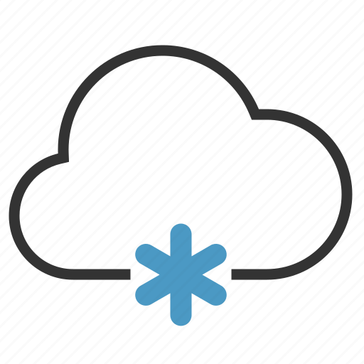 cloud, cloudy, snow, winter icon