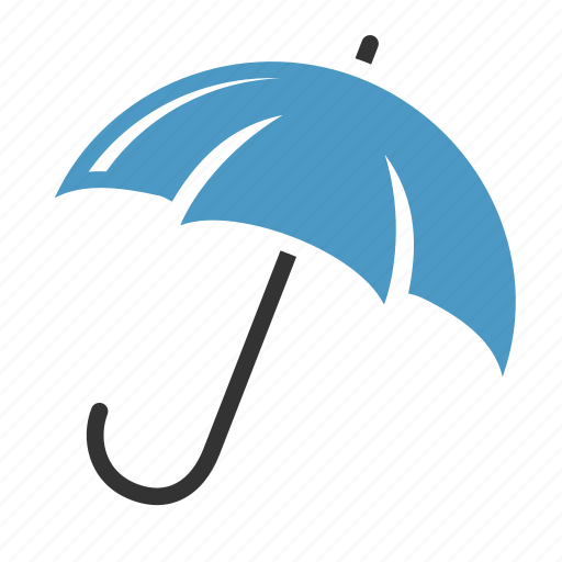 keep dry, protection, rain, umbrella icon