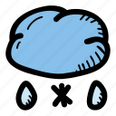 sleet, weather, cloud icon