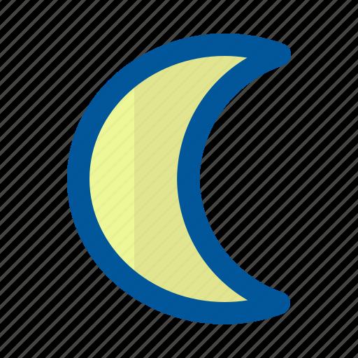 climate, forecast, moon, season, star, weather icon
