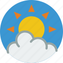 cloud, sun, weather icon