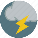 cloud, lightning, storm, weather icon