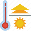 hot, temperature, weather icon