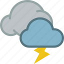 clouds, lightning, strom, weather icon