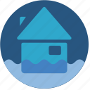 flood, warning, weather icon