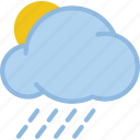 moon, rain, sun, weather icon