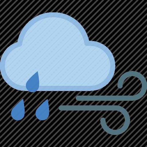 cloud, rain, weather, wind, windy icon