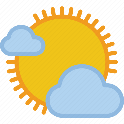 clouds, partial, sunny, weather icon