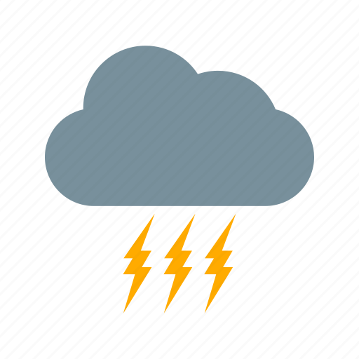 bad weather, cloud, lightning icon