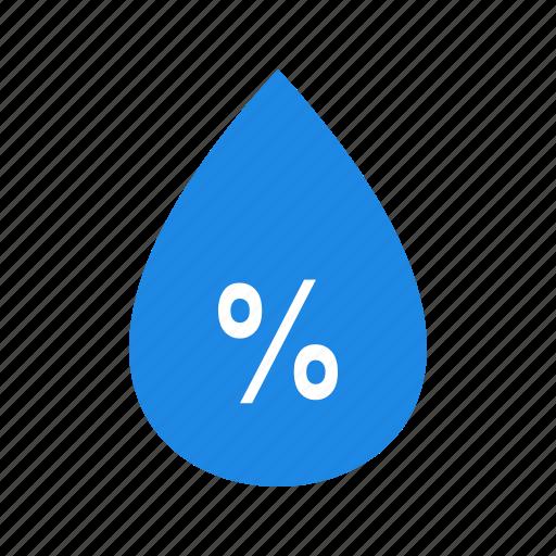 humidity, precipitation, water drop, weather icon