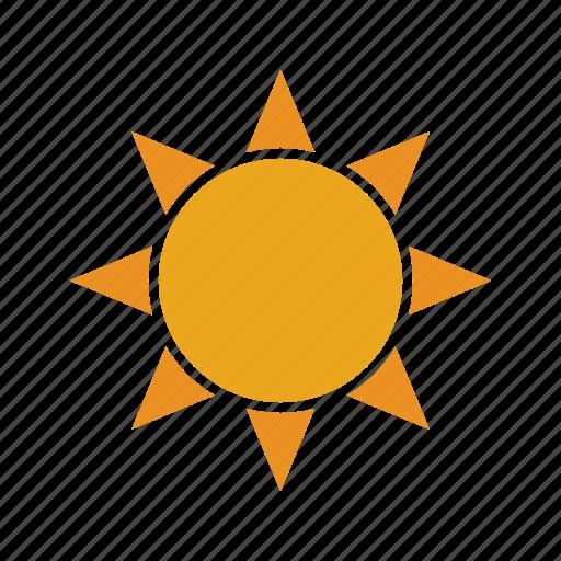 brightness, hot, summer, sun, sunny icon