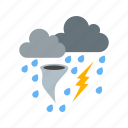 clouds, rain, snow, storm, weather icon