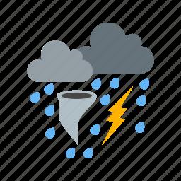 clouds, rain, snow, storm, weather icon