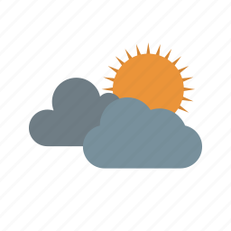 cloud, sun, sun and clouds, sunny icon