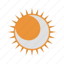 eclipse, moon, sun icon