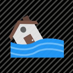 flood, flood symbol, warning icon