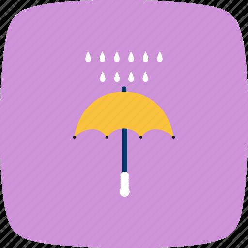 protection, rain, raning, umbrella icon