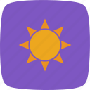 brightness, summer, sun, sunny icon