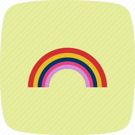 colorful, nature, rainbow, weather icon