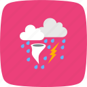 bad weather, rain, tornado icon