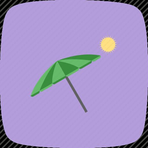 beach, beach umbrella, umbrella, vacation icon
