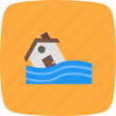 disaster, flood symbol, warning icon