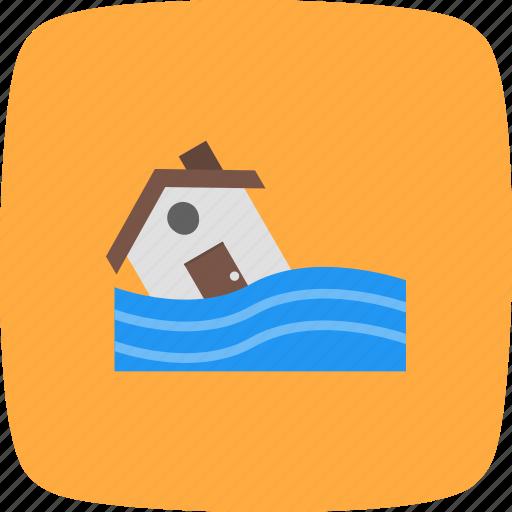 disaster, flood, flood symbol, warning icon