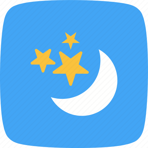 moon, moon and stars, night, stars icon