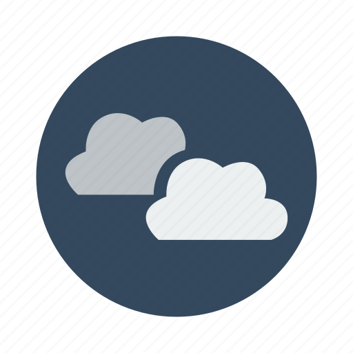 clouds, cloudy, night, sky icon