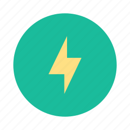 bolt, charge, electric, electricity, lightening, lightening bolt, thunder icon