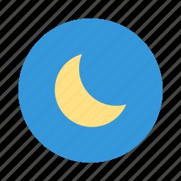 moon, moonlight, night, nightlight, sky icon