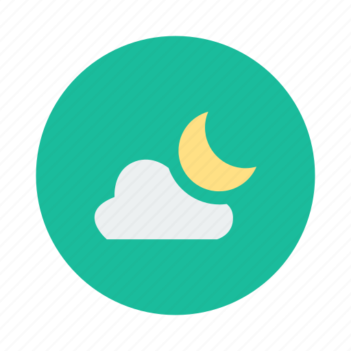 cloud, cloudy, moon, moonlight, night, sky icon