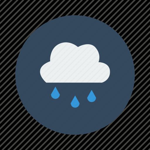 cloud, cloudy, drizzle, drop, night, rain, rainy icon
