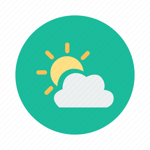 cloud, cloudy, nice weather, sunny, weather icon