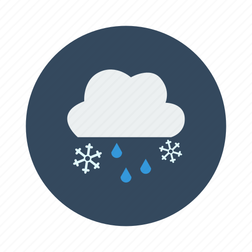 night, rain, snow, snowy, winter icon