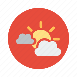 cloud, cloudy, nice weather, summer, sun, sunny, weather icon