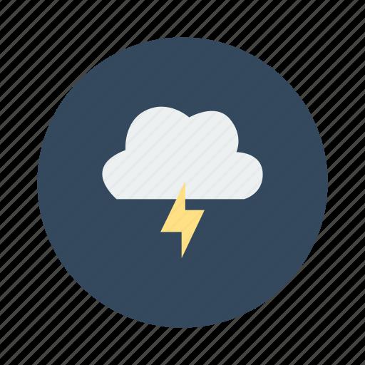 bad weather, cloud, lightening, thunder, weather icon