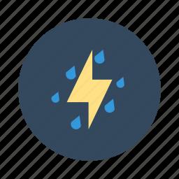 rain, rainy, storm, stormy, thunder, thunder storm icon