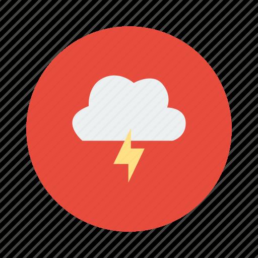 bad weather, lightening, storm, thunder, weather icon