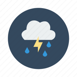 bad weather, night, rain, rainy, storm, thunder, weather icon