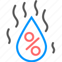 forecast, humidity, water, weather icon icon