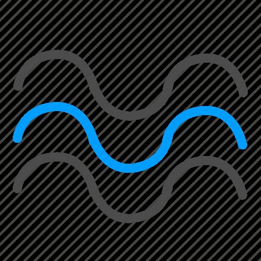 forecast, pool, sea, swimming, waves icon