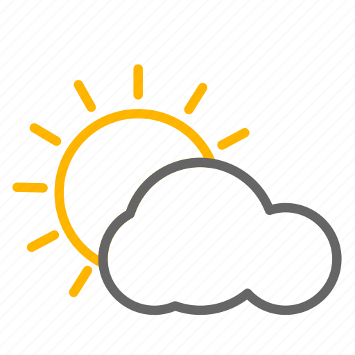 cloud, sun, weather, weather icon icon