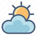 cloud, cloudy, data, forecast, season, sun, weather icon
