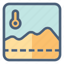 chart, forecast, graph, prediction, report, temperature, weather icon