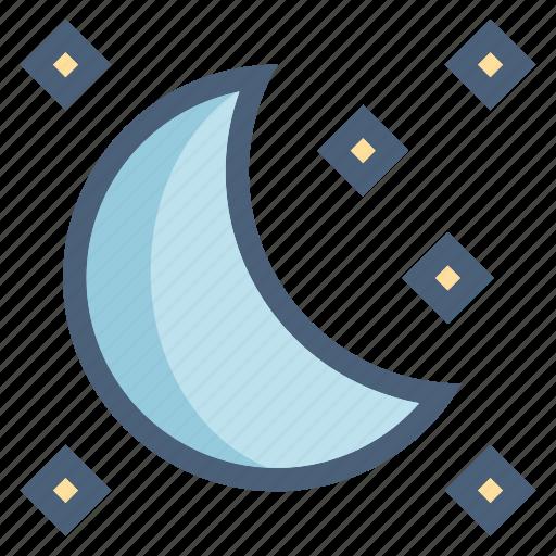 forecast, moon, moonlight, night, sleep, stars, weather icon